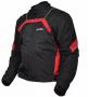 Куртка мотоциклетная (текстиль) City черно-красный MICHIRU